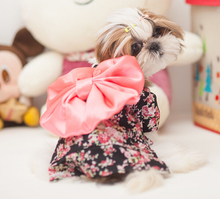 10pcs dogs cats Exquisite small floral kimono costume doggy lovely princess big bowknot dress puppy clothes pets products XS-XL