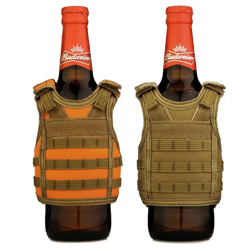 Sports & Entertainment Camping & Hiking Independent Tactical Beer Military Molle Vest Mini Miniature Wine Bottle Cover Vest Beverage Cooler Adjustable Shoulder Straps