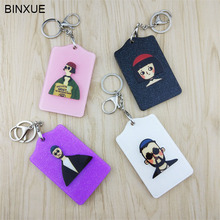 BINXUE Credit card set ID holder Card Ornaments Various induction cards holder Cartoon Lovely business access control badge(China)