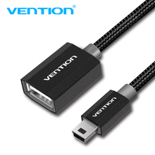 Vention Mini USB 2.0 OTG Cable Adapter Cable Mini USB2.0 480Mbps Male To Female OTG Cable 25cm for Cellular Phones MP3/4 Player(China)
