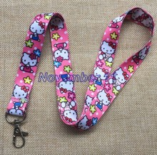 Lot 10Pcs Classic hello kitty Cartoon Mobile Cell Phone Lanyard Neck Straps Party Gifts MM926(China)