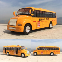 High simulation car model,alloy pull back Yellow school bus,metal bus models,free shipping