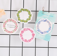 4 Pcs Cute Romantic Beautiful Garland Self-Adhesive Memo Pad Sticky Notes Post It Bookmark School Office Supply