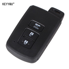 KEYYOU Replacement Smart Remote Key Shell Case Fob 3 Button For Toyota Avalon Camry