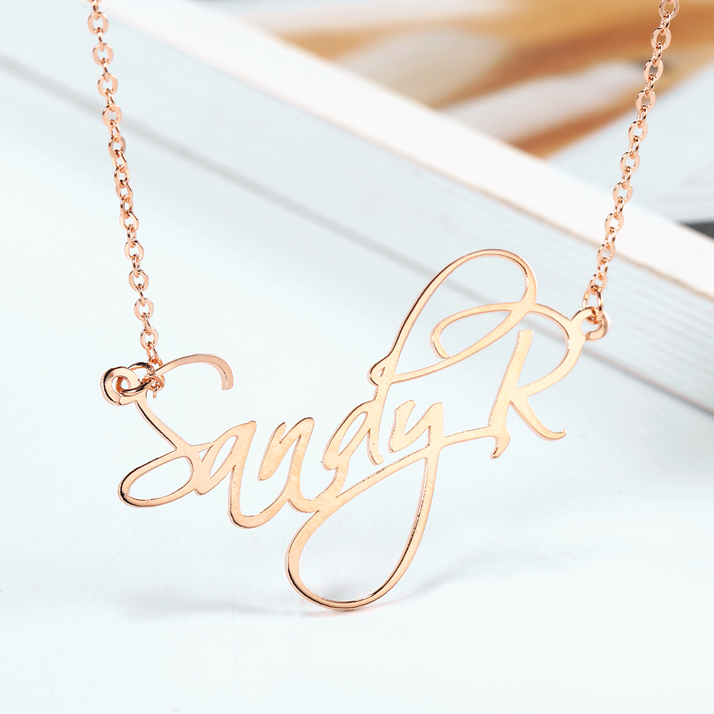RainMarch Stainless Steel Custom Name Necklaces Women Necklace & Pendant Personalized Nameplate Necklace Mom Gift Dropshipping (2)