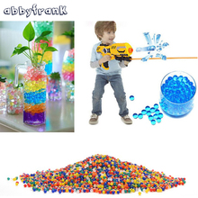 Abbyfrank 3000 Pcs Color Soft Crystal Bullet Water Gun Paintball Bullet Orbeez Gun Toy Bibulous Air Pisol  For Gun Toy for Boys