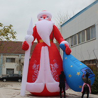 new year 20ft huge inflatable christmas santa with bag christmas decoration for outdoor advertising - Huge Inflatable Christmas Decorations