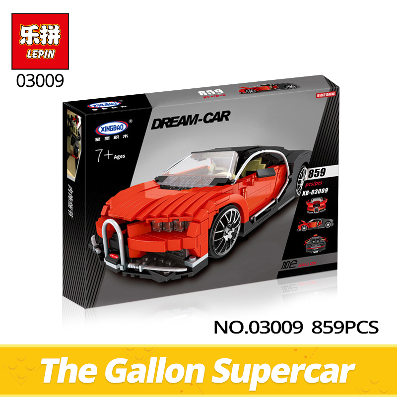 XingBao Technic Series 03009 859Pcs Creative MOCThe Gallon Supercar Set Children Educational Building Bricks Blocks Toy Gifn Toy<br>