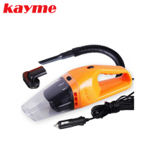 kayme new 12v 120w mini portable air compressor auto ash cleaner universal car rechargeable handheld vacuum cleaner wet and dry
