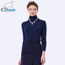 ICEbear 2017 Spring Autumn Sexy Slim Women New Fashion Women Pullover Turtleneck Knitted Sweater Female SZ0702D