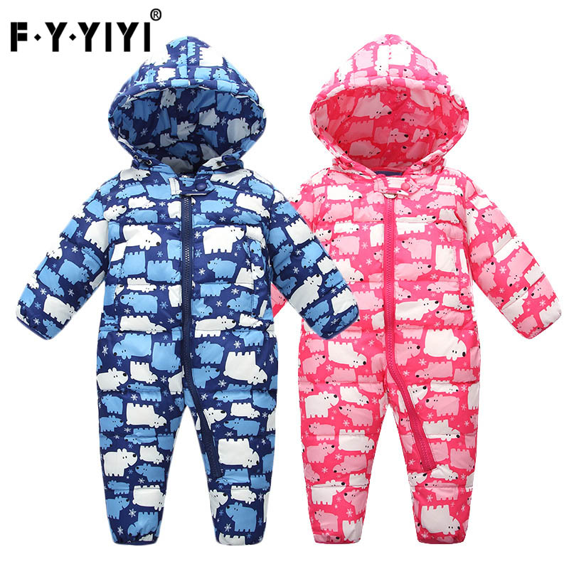 Children Jumpsuit Long sleeve Thickened Baby Climb clothes Down Jackets Childrens clothes<br>