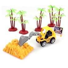 Mini Construction Vehicle Engineering Car Machineshop Truck Artificial Model Toy Car Dump Children Gift Tractor Diecast Toys
