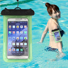 Universal Waterproof Phone Bag Case Cover Mobile Phone Pouch For Apple iPod Touch 4 Underwater Swimming Diving Sealed Bag(China)