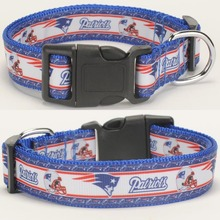 "NEW 1""25mm sport New England Patriots printed Dog Collar ,1 inch top Dog Collar 2 size avaiable"