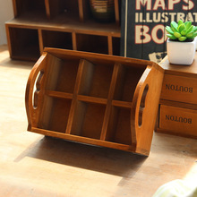 Vintage Wood Craft Storage Case Flower Pots Wooden Boxes Decorative Classification Wooden Boxes For Plants Tray Storage Box Hot