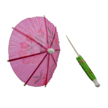 T-Best In Aliexpress promotion 50x/lot Wedding Cocktail Drinks Party Sticks Paper Parasol Umbrella(China)