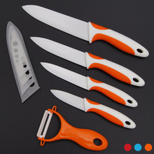"Home Kitchen Knives Ceramic Knife and Accessories Set for Fruit Utility Chef 3"" 4"" 5"" 6"" inch with Peeler Dining Bar"