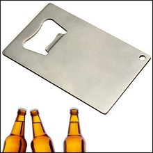 by DHL or EMS 100 pcs Credit Card Size Soda Beer Bottle Cap Opener Bar Kitchen Tool Stainless Steel