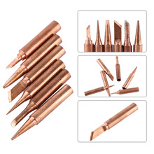 6pcs/set 900M-T Copper Solder Tip Iron Tips Lead-free Low Temperature Soldering Station Tool Set Diamagnetic DIY For 852D 8586