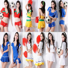 Race Suit Sexy Costume Sets Football Baby Clothing Eurocup Cheerleader Dress Costume Ds Dress(China)