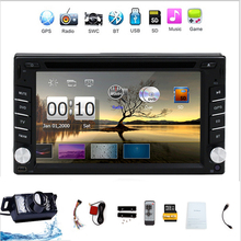 New universal Car Radio Auroradio Double 2 din car dvd player GPS Navigation In dash Car PC Stereo Head Unit video+Free camera(China)