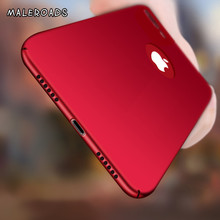 Luxury Matte Hard Back Phone Cases For iPhone 7 Plus Case PC Plastic full Protect Cover For iphone 6 Plus 6s 5 5s se 8 X case(China)