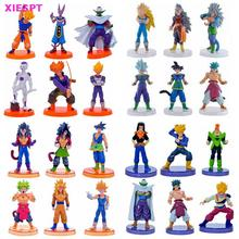 XIESPT Dragon Ball Z Anime 6pcs/set 13cm SUPER SAIYA Model PVC Action Figures Doll Toys Collection Free Shipping