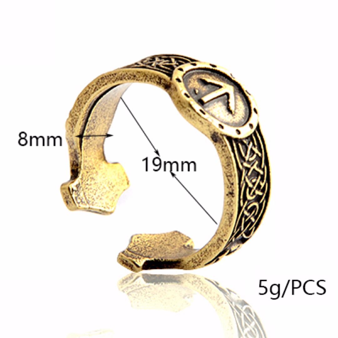 Gothic Adjustable Ring Bague Male Classic Men's Wolf Paw Opening Rings For Women Men Party Jewelry shellhard Bijoux Femme