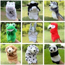 Plush Hand Puppets For Kids Rabbit Panda Cow Frog Doll Stuffed Toy Doll Animals Educational Puppet Toys For Children Stuffed Toy