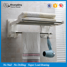 bathroom towel bar with hooks kitchen towel rack suction cup towel holder wall mounted towel rack 43cm(China)