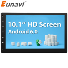Eunavi 2 Din Android 6.0 2G RAM Full-Touch Car PC Tablet double din Audio GPS Navi Car Stereo Radio No-DVD mp3 Player BT iPod