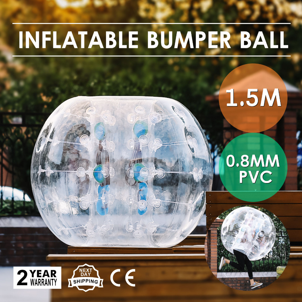 Happybuy Inflatable Bumper Ball 1.5M 5ft Diameter Bubble Soccer Ball Blow Up Toy in 5 Min Inflatable Bumper Bubble Balls.(China)