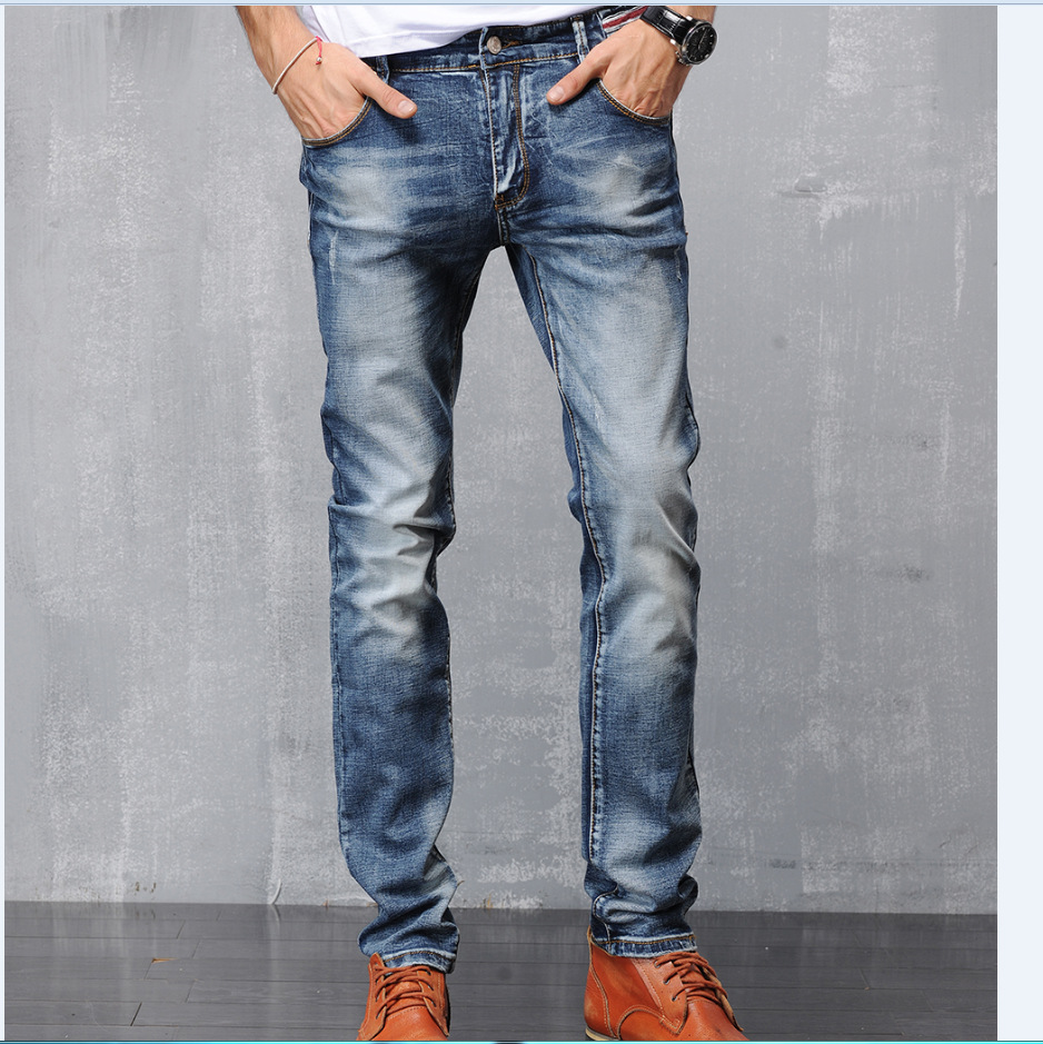 2017 New Fashion Brand Men Jeans Cotton Denim Jeans Casual Straight Washed Pants Brand Jeans plus Size:28~36Îäåæäà è àêñåññóàðû<br><br>