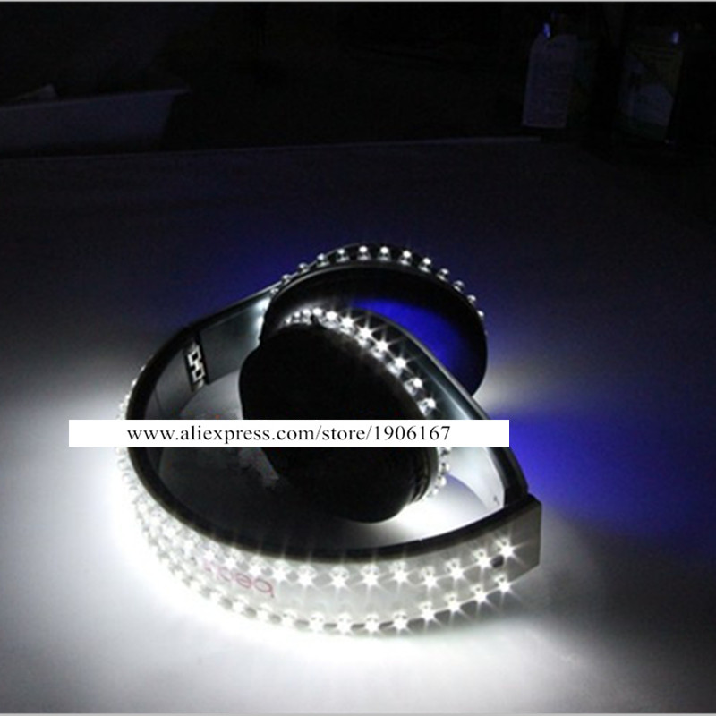 Hot Sale Led Luminous Earphone Game Music Video Light Up Illuminate DJ Headset For Dancing Bar Party Headwear Stage Show