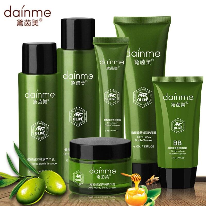 DAINME Royal Jelly Face Skin Care Set 6pcs Facial Cream 50g+Eye Cream 30g+BB Cream 40g+Toner 155ml+Lotion 125ml+Cleanser 100g<br>