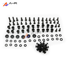 Motorcycle Complete Body Fairing Bolts Nuts Fastener Clips Screws Washer kit For Kawasaki ZX6R ZX-6R 2003 2004 03 04(China)