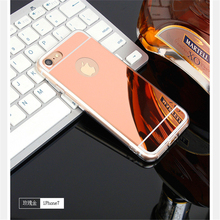 Luxury Mirror Flash Fashion Case For iPhone 7 6 6SPlus 5s 5 SE Soft Clear TPU Cover Gold Phone Bags Cases