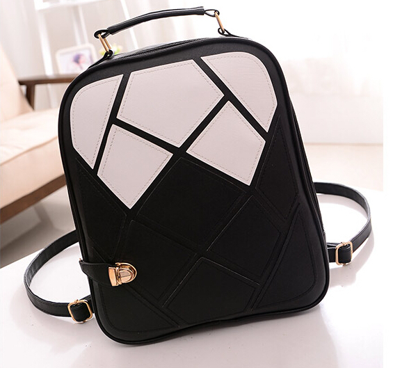 2017 fashion women backpacks patchwork girl student school bags PU leather travel rucksack bag free shipping Q0<br><br>Aliexpress