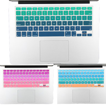 US Version Gradual Colors sticker cover for macbook pro 13'' 15'' retina air 13 English rainbow cover keyboard protector