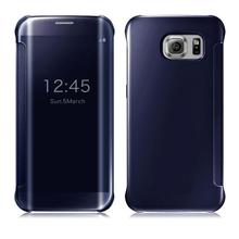 Mirror Screen Flip Leather Case For Samsung Galaxy S8 S8 plus Case For Samsung Galaxy S8 S8 plus Mirror Smart Clear View Cover(China)