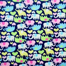 100x160cm free shipping elephant printed cotton fabric diy decoration home textile P5832(China)