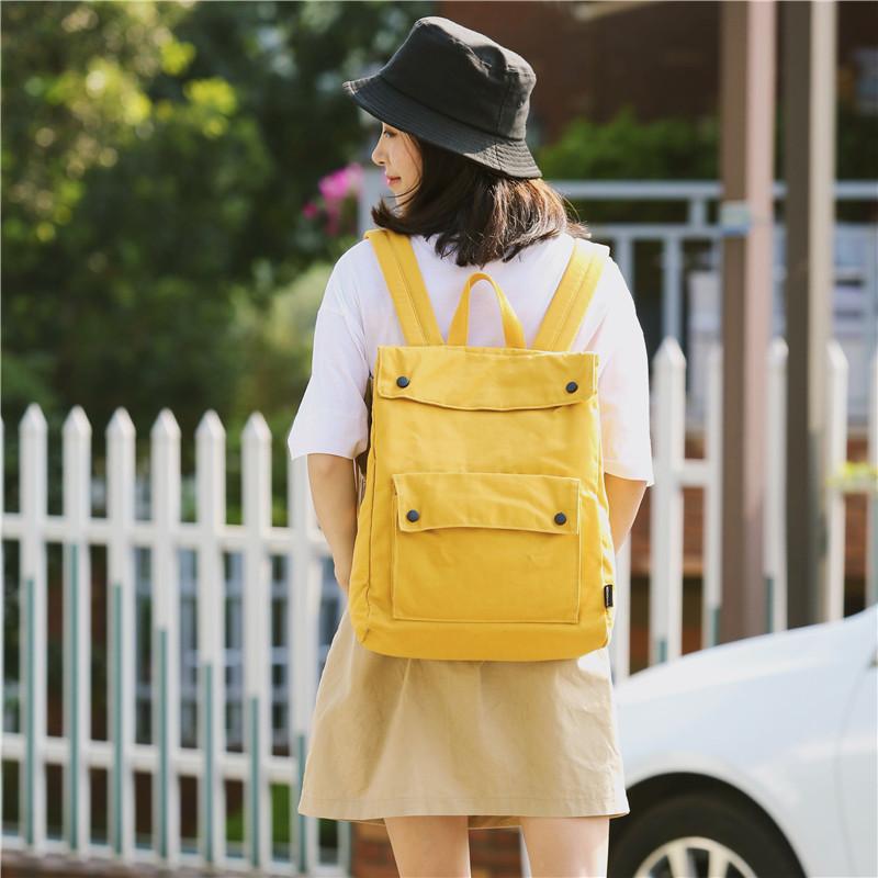 Menghuo Brand Female Women Canvas Backpack Preppy Style School Lady Girl Student School Laptop Bag Cotton Fabric bolsasYKEA0915