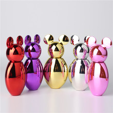 UV Vacuum Film 30ML Mickey Shape Mini Spray Glass Perfume Bottle Can Fill Makeup Water Empty Box 1pcs Free Shipping