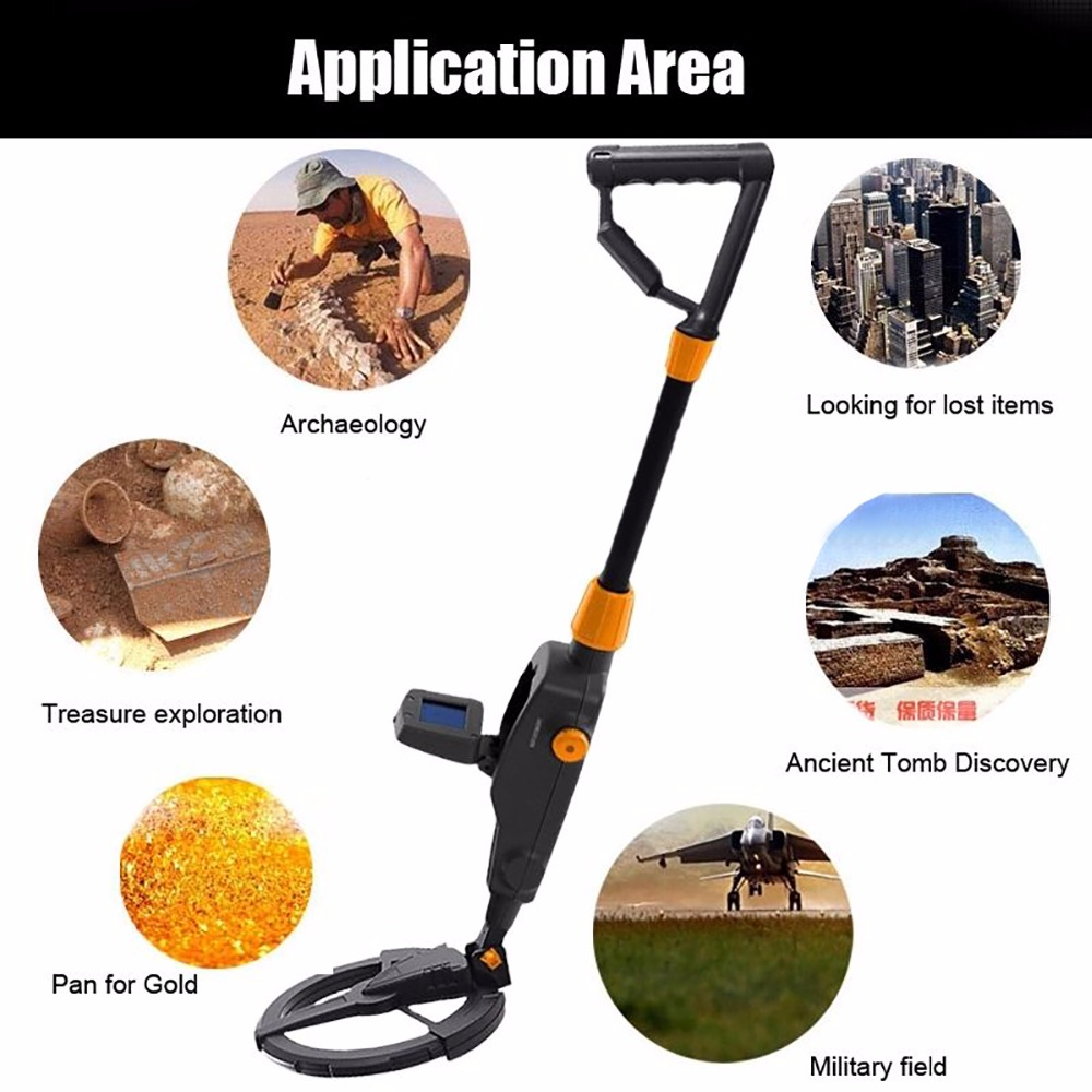 MD-1008A Kid Metal Detector Beach Search Machine Underground Gold Digger Mayitr Industrial Metal Detectors for Metal Detection<br>