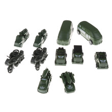 New 2Pcs/Lot Mini Military Car Toys Model Jeep / off-road Vehicle Children Kids Birthday Gifts Military Car Model Muti-Style(China)