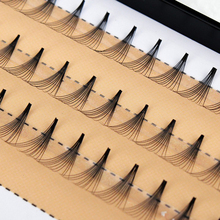 1 Set Women 0.07 C 10D Wave Individual Mink Black Soft False Eyelashes Eye Lashes Extension Tools
