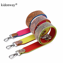 KIDONWAY Brand Designer Python Genuine Leather Shoulder Bags Strap Women handbags Straps Replacement Bag Part Purse Accessory
