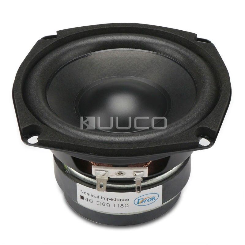 40W Woofer Speaker Double magnetic Speaker 4.5-inch 4 ohms Hi-Fi Shocking Bass Speaker Audio Loudspeaker for DIY speakers<br>