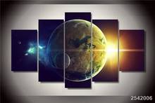 Hd Printed Planet Oceans Two Light Star Painting Canvas Print Room Decor Print Poster Picture Canvas Free Shipping/Ny-1550 gift