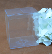 9*9*9cm Free Shipping cube clear PVC boxes wholesale clear plastic folding box(China)